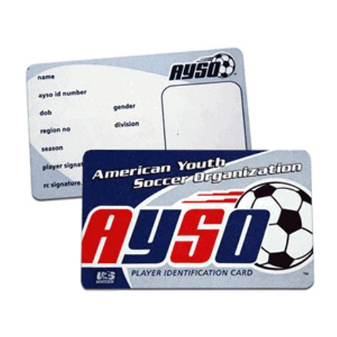 ayso player id cards pack   httpswwwaysostorecom