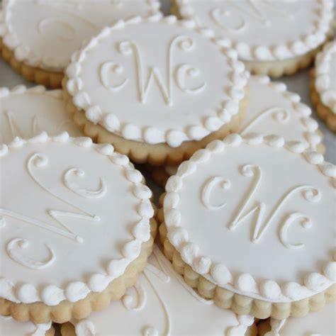 ivory monogram cookie gift box vanilla  dozen