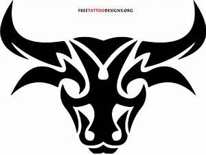 Extreme Tribal Bull Head Tattoo Design | Tattooshunt.com