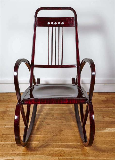 viennese secession rocking chair by thonet circa 1911 for