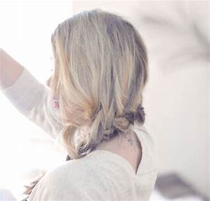 Pretty Side French Braid low Updo Hair Tutorial | Fashion ...