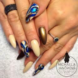 Nail art nails with liquid stones love