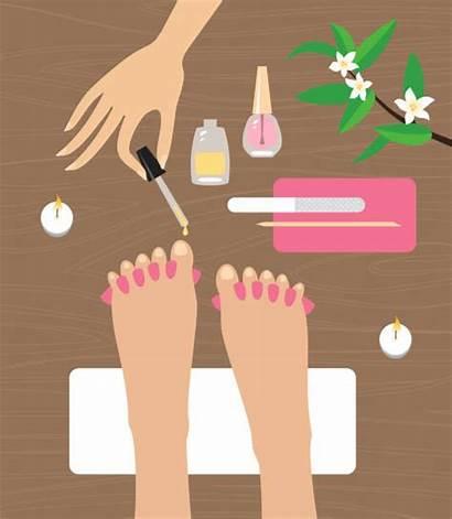 Pedicure Vector Manicure Clip Nails Feet Illustrations