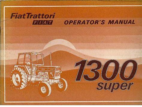 fiat tractor  super dt super operators manual