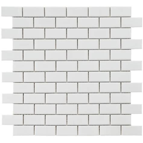 4 X 8 Glossy White Subway Tile by Merola Tile Metro Subway Glossy White 11 3 4 In X 11 3 4