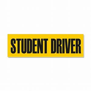 Student driver car magnet 10 x 3 by admin cp15781845 for Kitchen colors with white cabinets with student driver sticker