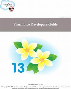 Visualforce Developer U0026 39 S Guide Salesforce Pages Developers
