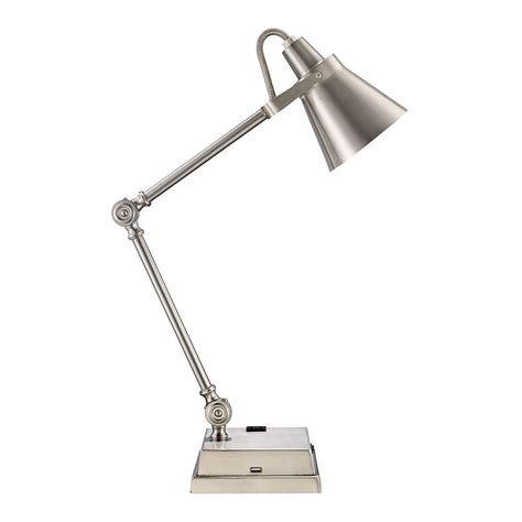 brushed nickel desk l monteaux lighting 23 in adjustable brushed nickel led