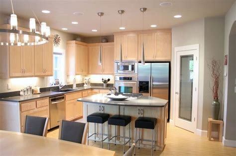 maple kitchen cabinets with quartz countertops maple cabinets bamboo flooring caesarstone quartz
