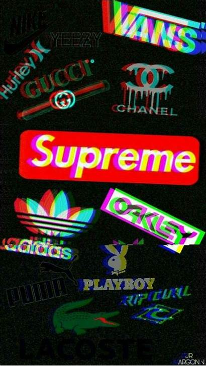 Supreme Glitch Iphone Aesthetic Wallpapers Nike Background