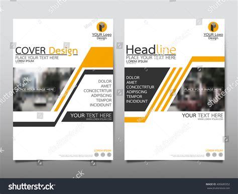 Yellow Brochure Design Vector Millions Vectors Yellow Annual Report Brochure Flyer Design Template Vector