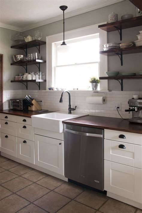 diy farm house kitchen remodel on a budget using ikea