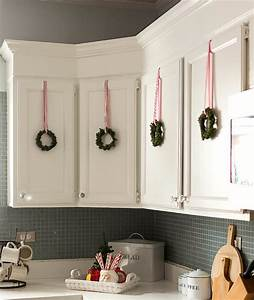 simple farmhouse cottage christmas decorating ideas an With kitchen colors with white cabinets with happy holidays stickers
