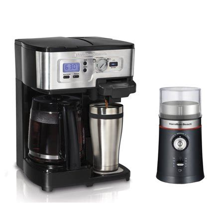 Office coffee machines—specifically the best office coffee machines—could mean the difference between a buzzing office (pun intended) and a boring sprawl of office zombies. Hamilton Beach 2-Way FlexBrew Coffee Maker and Custom Grind Coffee Bean Grinder - Walmart.com