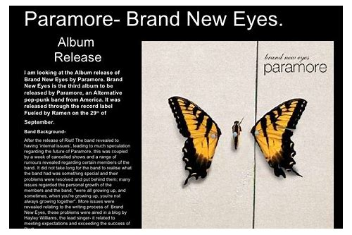 download brand new eyes paramore 320kbps