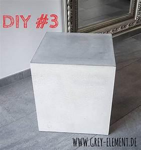 Beton Schleifen Schleifpapier : beistelltisch kubus aus beton selber machen grey elements betonm bel webseite ~ Watch28wear.com Haus und Dekorationen