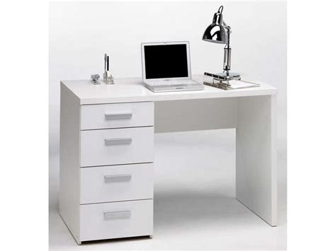 bureau conforama blanc bureau 4 tiroirs tilio coloris blanc conforama