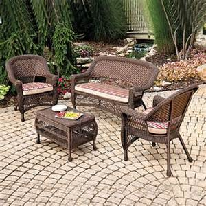 wilson fisher outdoor patio furniture set indoor outdoor resin wicker 4 pc key west with