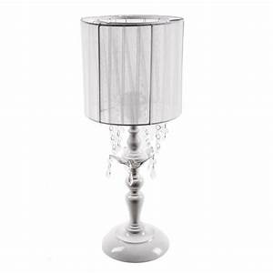tadpoles 20 in white chandelier table lamp with drum With 4 light chandelier table lamp