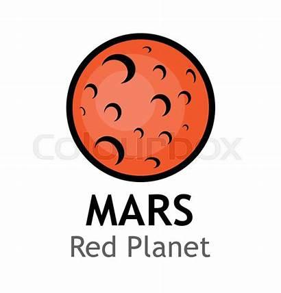 Mars Planet Cartoon Planets Illustration Vector Solar