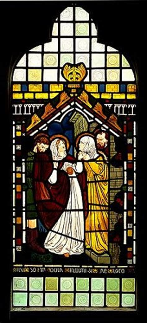 visitation stained glass