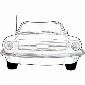 Front Bumper For 1965-1966 Ford Mustang, Steel, Chrome | eBay