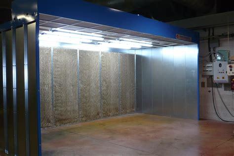 cabine di verniciatura cabina di verniciatura a secco mod fc tecno azzurra
