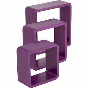Cube De Rangement Leroy Merlin : etag re 3 cubes violet tulipe l 28 x p 28 l 24 x p 24 l ~ Dailycaller-alerts.com Idées de Décoration