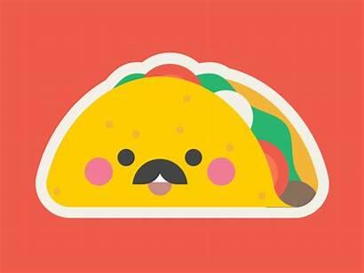 Taco Stickers Mr Imessage Kawaii Emoji Sticker