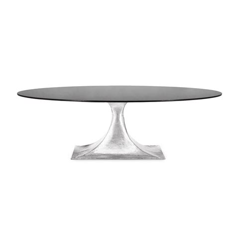 hammered metal table l base oval marble dining table with hammered metal base mecox