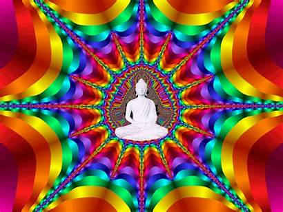 Om Rainbow Giphy Bright Moving Colors Psychedelic