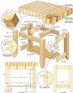 butcher block island woodworking plans - WoodShop Plans