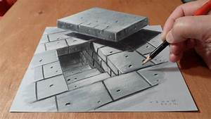 3D Drawing Tunnel Stairs, Anamorphic Illusion, Time Lapse ...