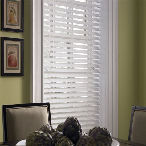 levolor faux wood blinds shop custom size now by levolor 2 in white faux wood room
