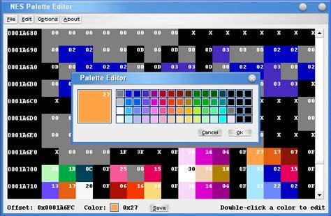 nes color palette romhacking net utilities nes palette editor