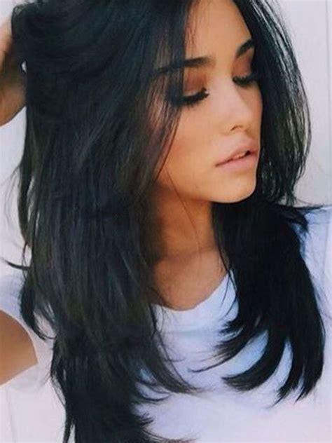 atoz women medium long black straight natural hair wigs