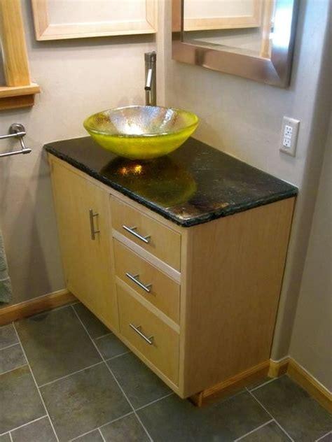 custom kitchen sinks custom made glass bathroom sink bowls by brock 3065