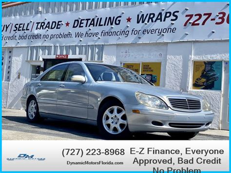 The best service for the best van for the job. USED MERCEDES-BENZ S-CLASS 2001 for sale in Clearwater, FL | Dynamic Motors