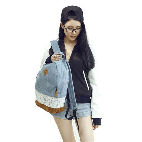 2016 mode femmes dentelle toile sac 224 dos cartable sac bandouli 232 re ebay