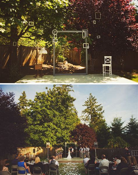 Real Wedding Jordan + Nick's Diy Backyard Wedding Green