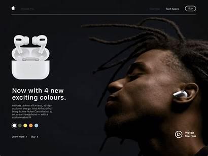 Airpods Apple Dribbble Concept Colour Etten Josh