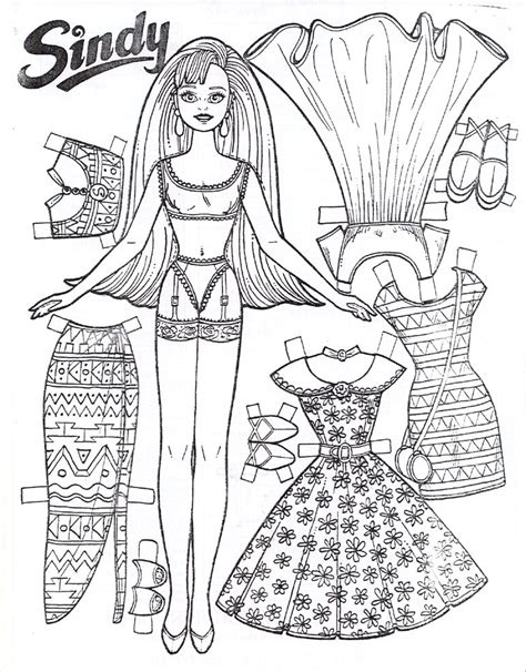 coloring paper free printable paper doll coloring pages for