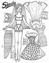 Coloring Doll Paper Pages Clothes Popular sketch template