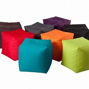 Pouf De Jardin : pouf de jardin cube mobilier de jardin chez pure deco ~ Teatrodelosmanantiales.com Idées de Décoration