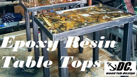 dc epoxy resin table tops youtube