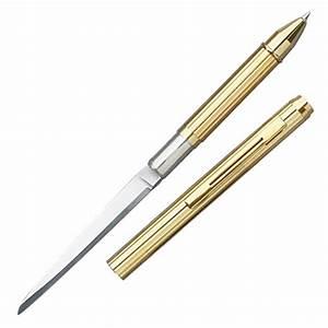 gold pen knife letter opener With letter opener knife