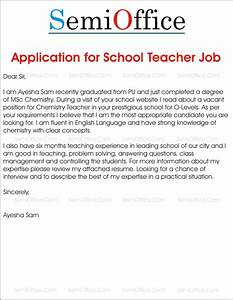 application for school teacher job free samples With how to apply for college