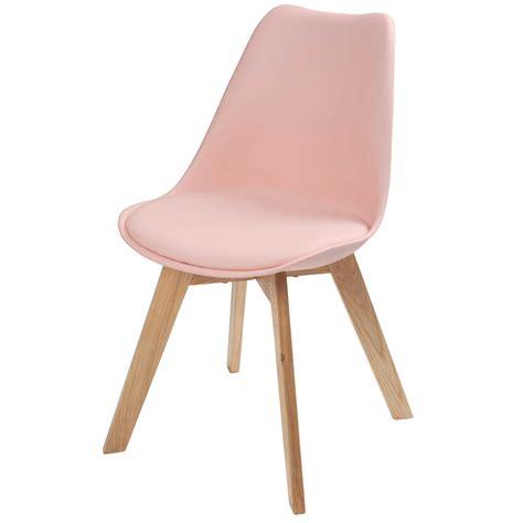 la chaise santa rosa skandinavischer stuhl pastellrosa maisons du monde