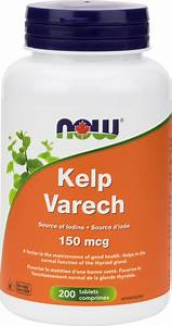 Now Foods Kelp 150mcg Iodine