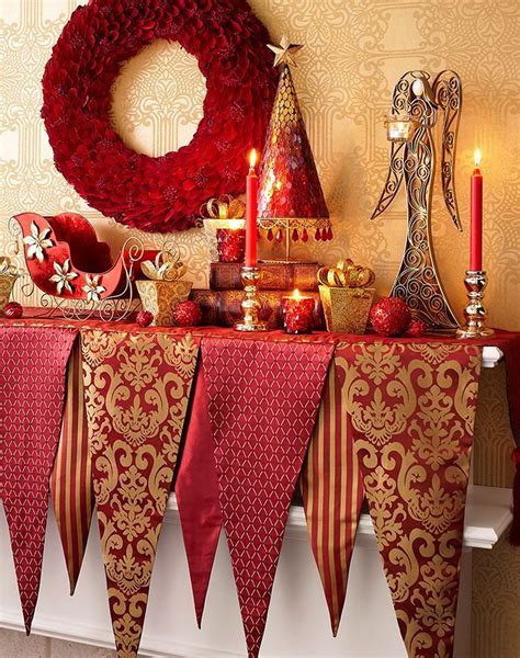 Red and Gold Christmas Decorating Ideas